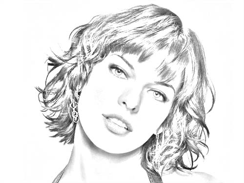 visage dessin photoshop