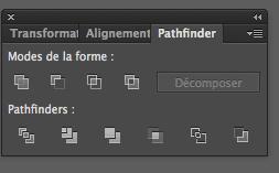 utiliser le pathfinder sur illustrator