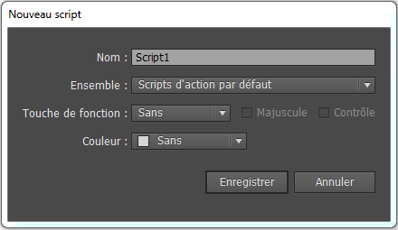 scripts d'action sous Illustrator